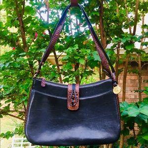 Brahmin Vintage Tuscan Black & Brown Bag SALE